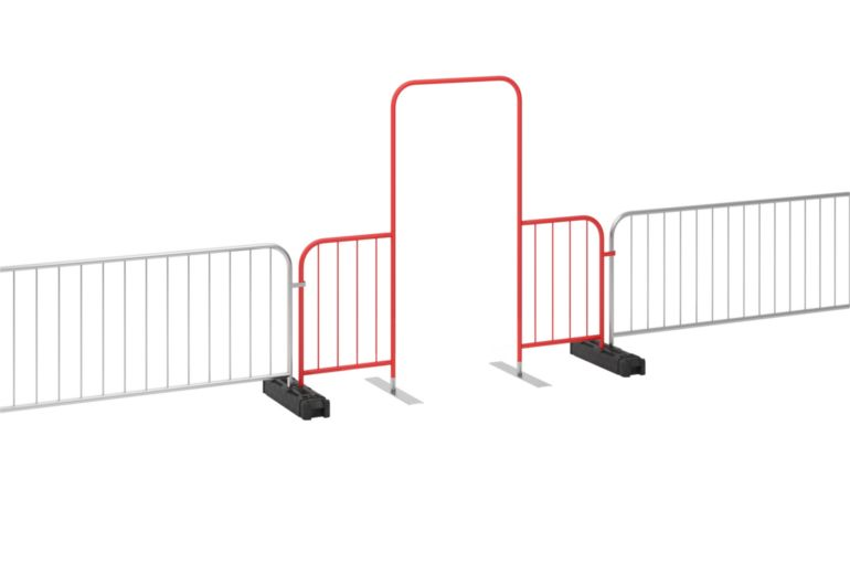 Crowd Control Barrier Gates