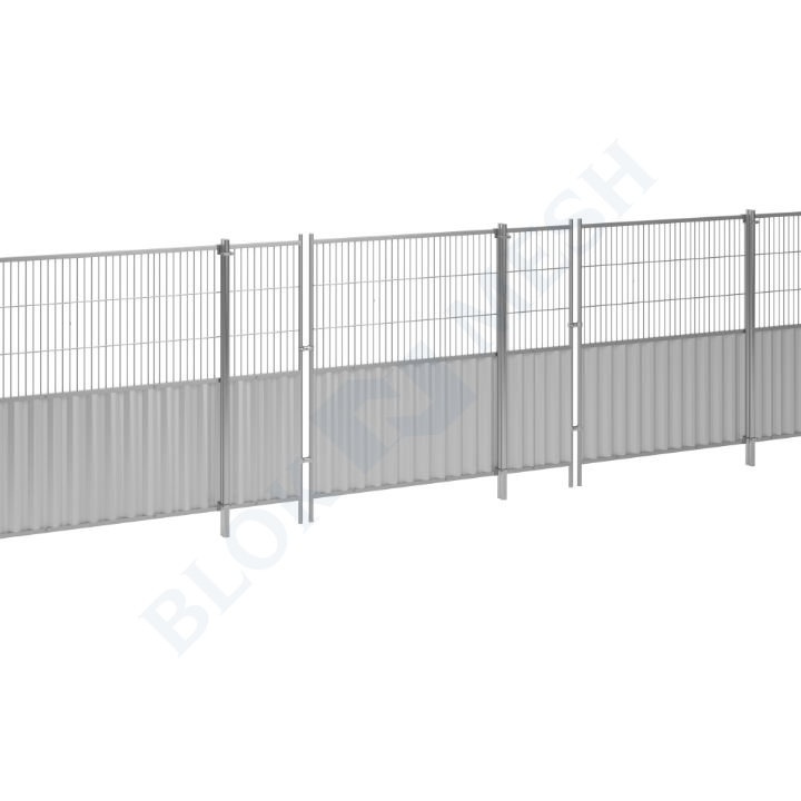 Blockade™ Steel In-Ground Half-Mesh Hoarding System - 2m
