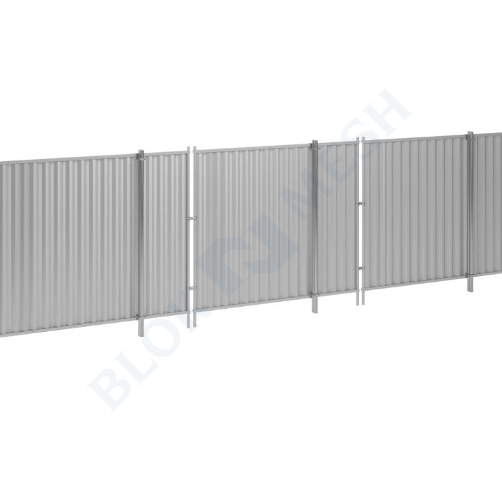Blockade™ Steel In-Ground Hoarding System - 2m