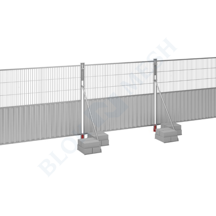 Blockade™ Steel On-Ground Half-Mesh Hoarding