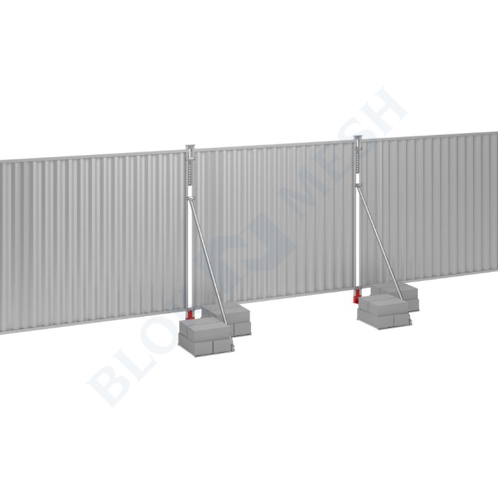 Blockade™ Steel On-Ground Hoarding System - 2m