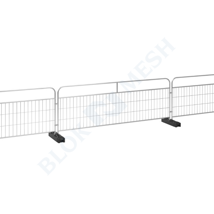Handrail Crowd Control Barrier with Fence Feet