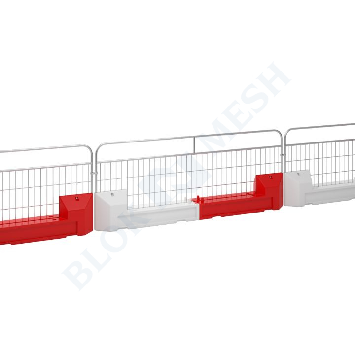 Handrail Crowd Control with Slot Blok Barrier