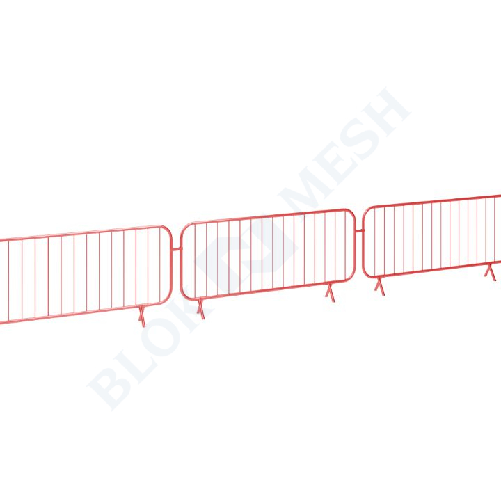 Powder Coated Bar Barrier - Red