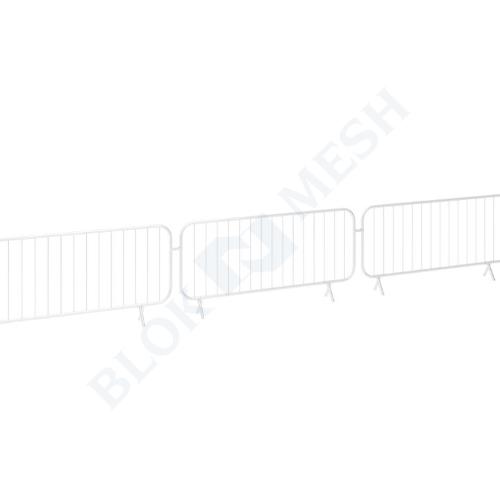 Powder Coated Bar Barrier - White