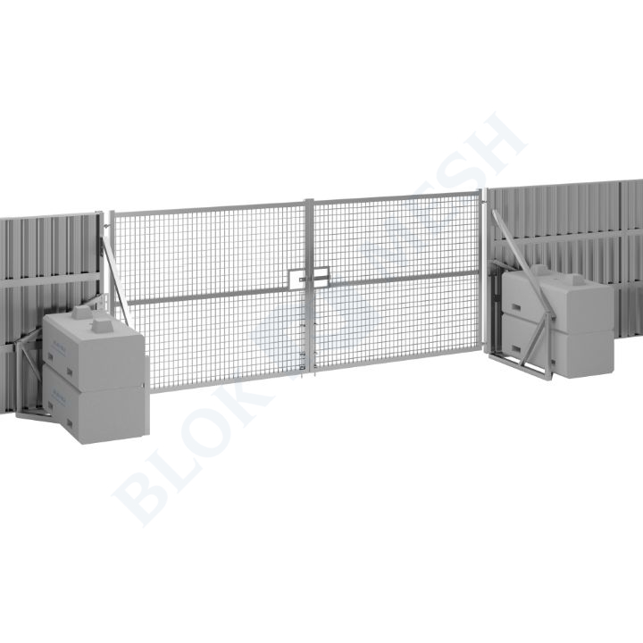 Safe Hoard™ Steel Full Mesh Vehicle Gate - 2.4m