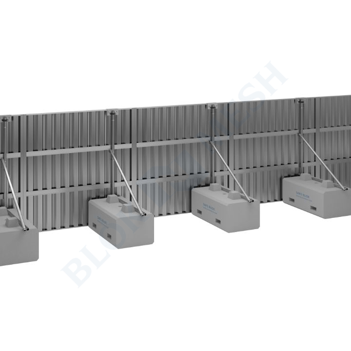 Safe Hoard™ Steel On-Ground Hoarding System - 2.4m