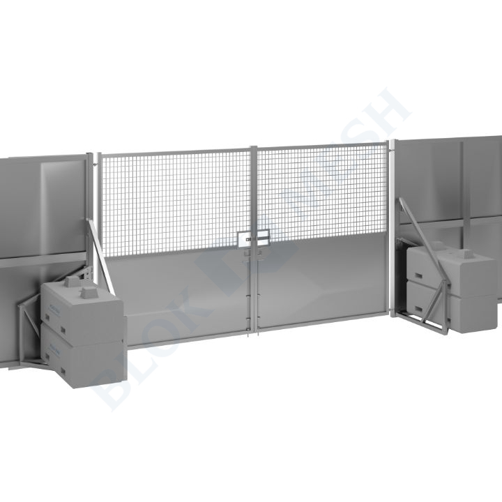 Secure Hoard™ Steel Half Mesh Vehicle Gate - 2.4m