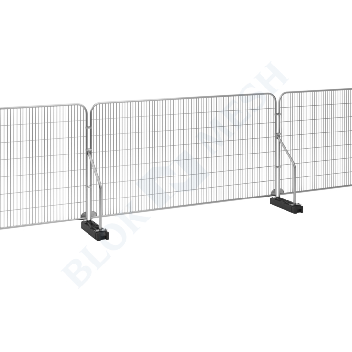 Temporary Fencing Set with Angled Support Arm