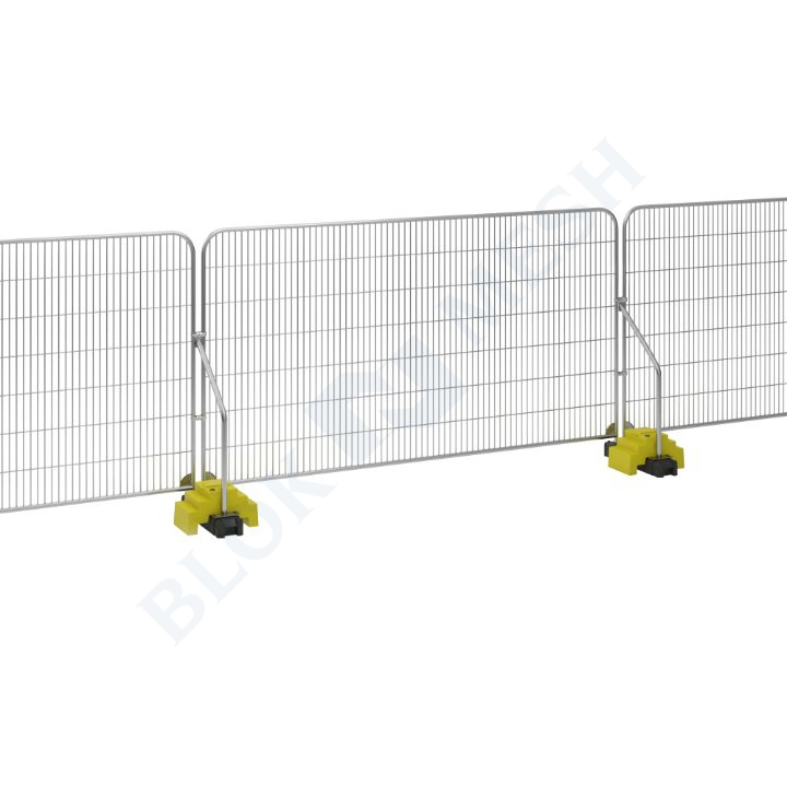 Temporary Fencing Set with Angled Support Arm - 1no. BraceBlok™