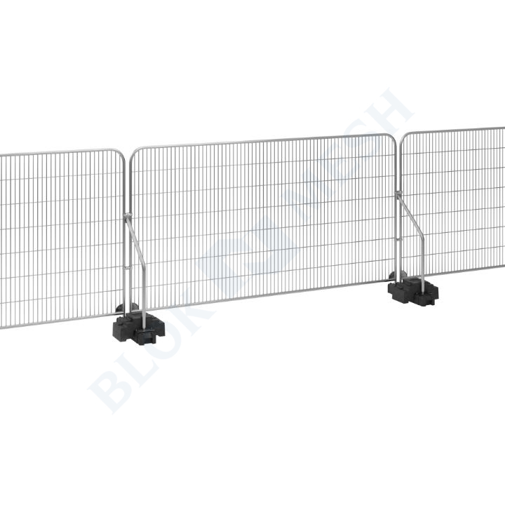 Temporary Fencing Set with Angled Support Arm - 1no. SoloBlok™