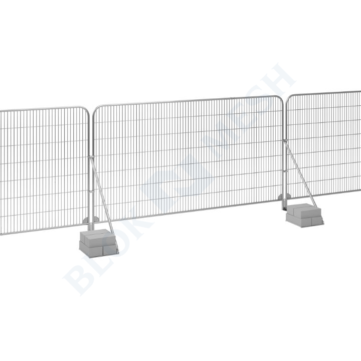 Temporary Fencing Set with Brace and Tray