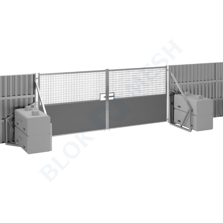 Safe Hoard™ Steel Half Mesh Vehicle Gate - 2.4m